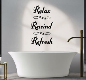 RELAX REWIND REFRESH WALL STICKER