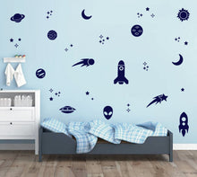 Load image into Gallery viewer, ROCKETS & PLANETS WALL DECALS