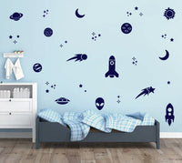 ROCKETS & PLANETS WALL DECALS