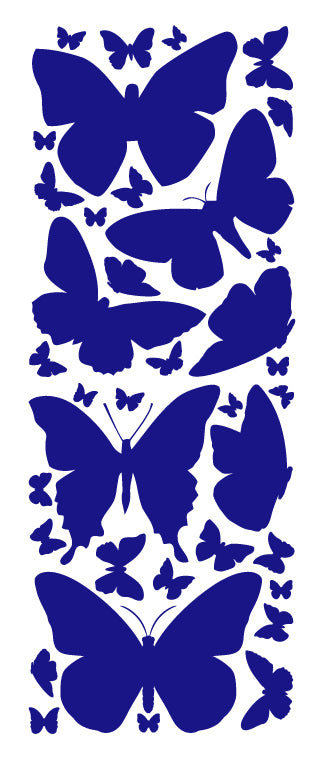 ROYAL BLUE BUTTERFLY WALL DECALS