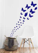 Load image into Gallery viewer, ROYAL BLUE BUTTERFLY WALL STICKERS