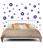 ROYAL BLUE DAISY WALL DECOR
