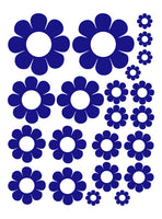 ROYAL BLUE DAISY WALL DECALS