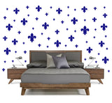 ROYAL BLUE FLEUR DE LIS WALL DECOR
