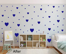 Load image into Gallery viewer, ROYAL BLUE HEART STICKERS