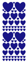 Load image into Gallery viewer, ROYAL BLUE HEART WALL STICKERS