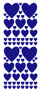 ROYAL BLUE HEART WALL STICKERS
