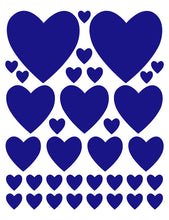 Load image into Gallery viewer, ROYAL BLUE HEART WALL DECALS