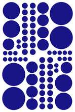Load image into Gallery viewer, ROYAL BLUE POLKA DOT DECALS
