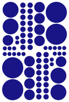 ROYAL BLUE POLKA DOT DECALS