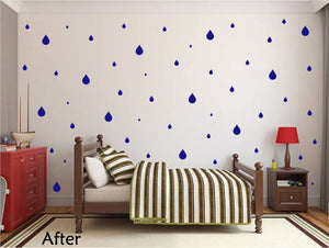 ROYAL BLUE RAINDROP WALL GRAPHICS