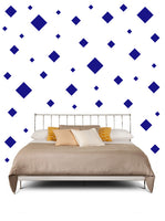 SQUARE WALL STICKERS IN ROYAL BLUE