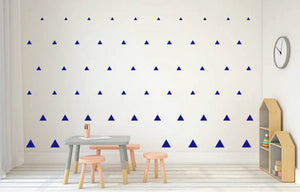 ROYAL BLUE TRIANGLE DECALS