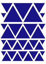 Load image into Gallery viewer, ROYAL BLUE TRIANGLE WALL DECALS