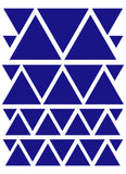 ROYAL BLUE TRIANGLE WALL DECALS