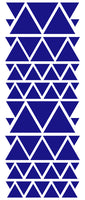 ROYAL BLUE TRIANGLE STICKERS