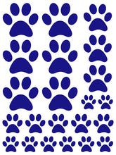 Load image into Gallery viewer, ROYAL BLUE PAW PRINT WALL DECALS