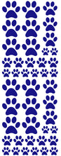 Load image into Gallery viewer, ROYAL BLUE PAW PRINT DECALS