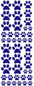 ROYAL BLUE PAW PRINT DECALS
