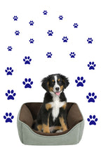 Load image into Gallery viewer, ROYAL BLUE PAW PRINT STICKERS