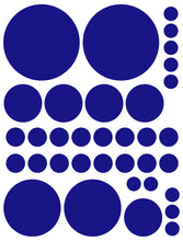 Load image into Gallery viewer, ROYAL BLUE POLKA DOT WALL DECALS