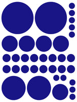 ROYAL BLUE POLKA DOT WALL DECALS
