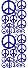 Load image into Gallery viewer, ROYAL BLUE PEACE SIGN DECAL