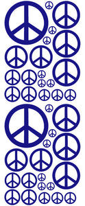 ROYAL BLUE PEACE SIGN DECAL