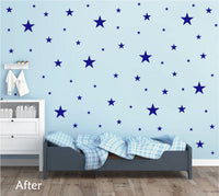 ROYAL BLUE STAR STICKERS
