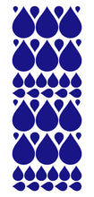 Load image into Gallery viewer, ROYAL BLUE RAINDROP WALL STICKERS