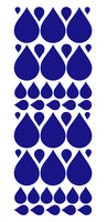 ROYAL BLUE RAINDROP WALL STICKERS