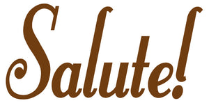 SALUTE WALL DECAL BROWN