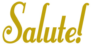 SALUTE WALL DECAL GOLD