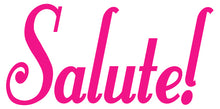 Load image into Gallery viewer, SALUTE WALL DECAL HOT PINK
