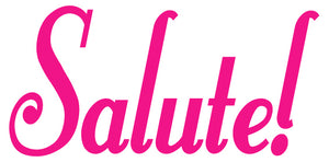 SALUTE WALL DECAL HOT PINK