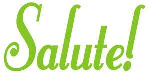 SALUTE WALL DECAL LIME GREEN