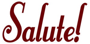 SALUTE WALL DECAL MAROON
