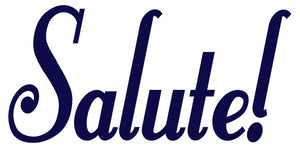 SALUTE WALL DECAL NAVY BLUE