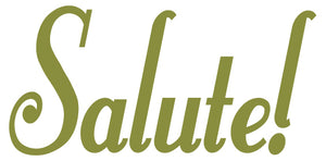SALUTE WALL DECAL OLIVE GREEN
