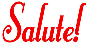 SALUTE WALL DECAL RED