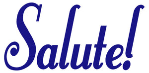 SALUTE WALL DECAL ROYAL BLUE