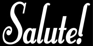 SALUTE WALL DECAL WHITE