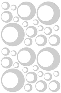 SILVER BUBBLE STICKERS