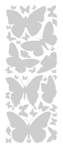 SILVER BUTTERFLY WALL DECALS