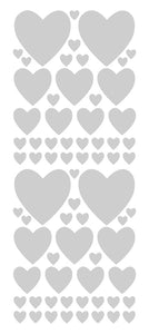 SILVER HEART WALL STICKERS