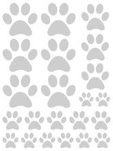 Load image into Gallery viewer, SILVER PAW PRINT WALL DECALS