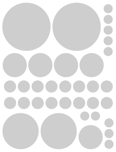 SILVER POLKA DOT WALL DECALS