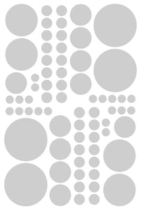 SILVER POLKA DOT DECALS