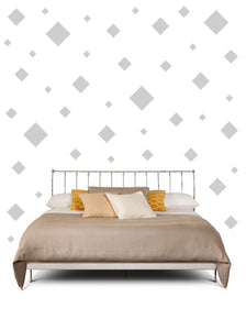 SQUARE WALL STICKER IN SILVER