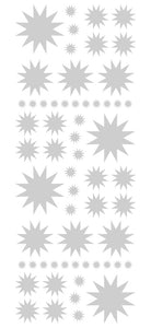 SILVER STARBURST WALL STICKERS